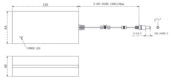 15V 4A power supply drawing
