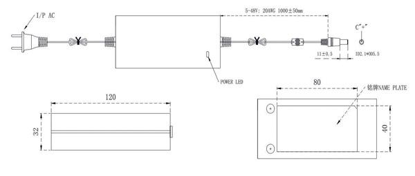 6V 3A power adapterdrawing